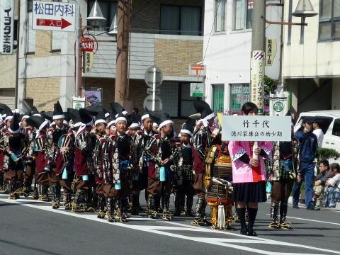 岡崎市家康行列の子供武者行列