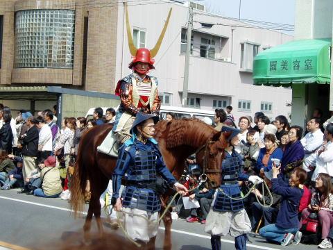岡崎市家康行列の武者行列