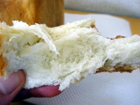 パンのトラの中身はモッチリの様子